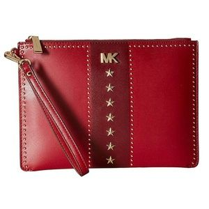 MICHAEL KORS Medium Zip Pouch Studded Wristlet